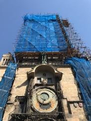 The Astronomical Clock, undergoing restoration
