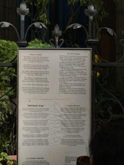 Marian Column placard