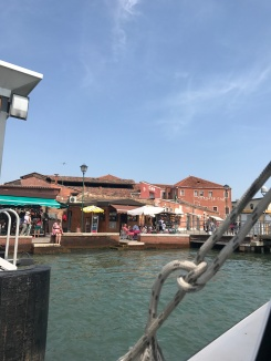 I believe this is a view of Murano - the island directly north of the main Venetian island