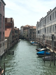 "Waterways and boats dominate the Venice...""street""scape?"