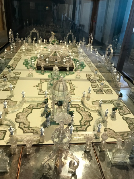 Glass model of one of the Venice gardens!! So intricate and cool