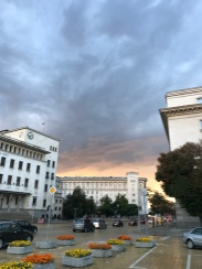 Sofia shows a dramatic sky for me on my second evening.