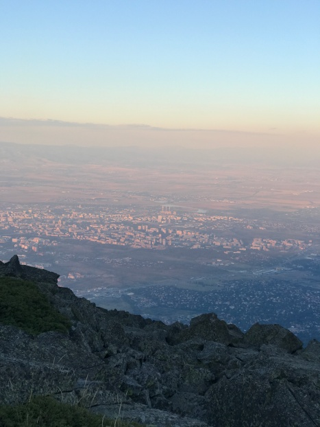 Our view of Sofia below